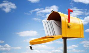 yellow mailbox